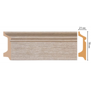 Цветной напольный плинтус D122-72 ДМ