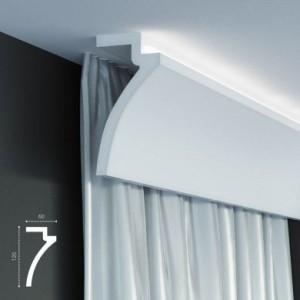 KF 801 (2м) Карниз для штор со скрытой подсветкой
