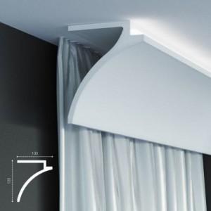 KF 802 (2м) Карниз для штор со скрытой подсветкой