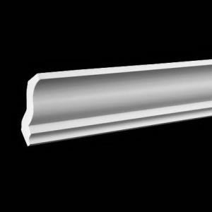 Плинтус потолочный без орнамента Гибкий1.50.105F