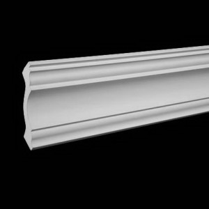 Плинтус потолочный без орнамента Гибкий1.50.113F