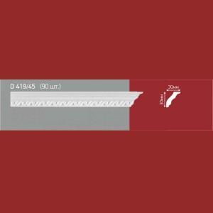 Плинтус потолочный полистиролD419-45 (90)