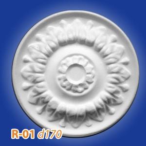 Розетка потолочная из полистирола R01 в Орле