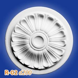 Розетка потолочная из полистирола R02