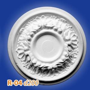 Розетка потолочная из полистирола R04